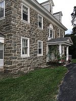 1880 farmhouse historical stone  facade restoration and rtepairs